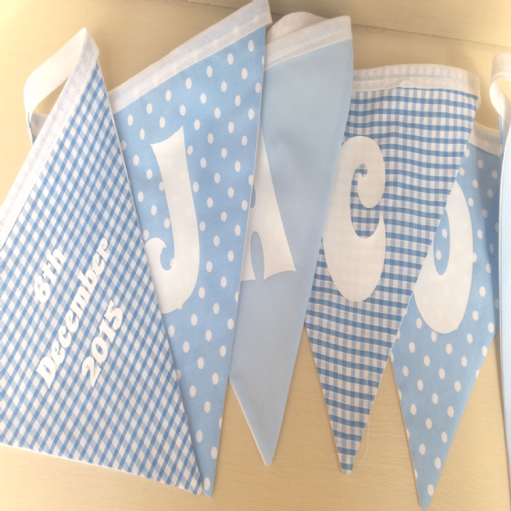 Personalised New Baby Fabric Bunting